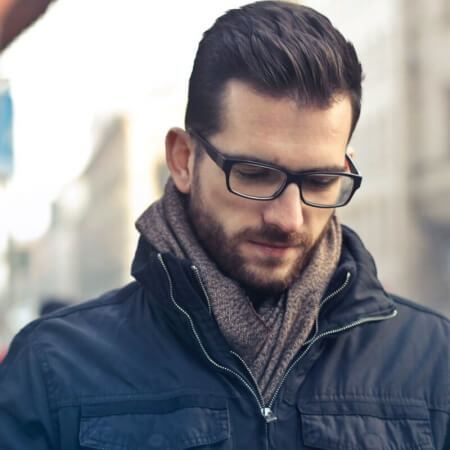 Guy in coat and Glasses