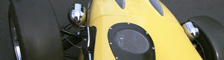 bright yellow kit car