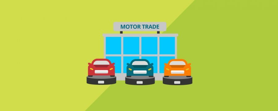motor traders building for demo cover vector