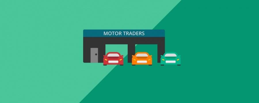 motor trader garage vector